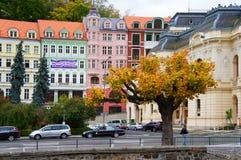 Stara Louka ulica Karlsbad (Karlovy Zmienia) Fotografia Royalty Free