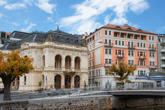 Stara Louka ulica Karlsbad (Karlovy Zmienia) Obrazy Stock