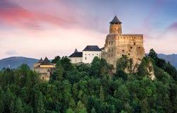 Stara Lubovna城堡在斯洛伐克,欧洲地标 免版税库存照片