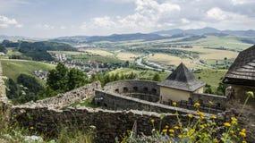 Stara Lubovna城堡,斯洛伐克 免版税库存照片
