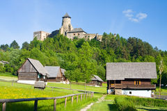 Stara Lubovna Castle. And an open air folk museum, Slovakia royalty free stock image