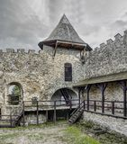 Stara Lubovna - castle in Slovakia. Stara Lubovna castle in Slovakia. Early spring evening. Castle stones wall and tower, yard royalty free stock images