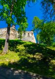 Stara Lubovna Castle of Slovakia on the hillside. Beautiful medieval architecture. popular tourist attraction. lovely summer scenery Stock Photography