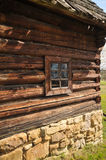 Stara Lubovna museum. Old log house in Stara Lubovna open air museum stock photography