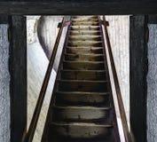 Stara Lubovna, scale di legno Fotografie Stock