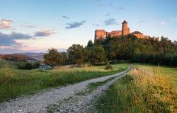 Stara Lubovna slott i Slovakien, Europa gränsmärke arkivfoto