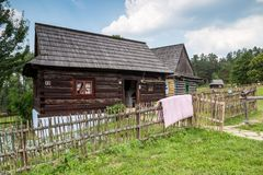 Stara Lubovna in SLovakia - open-air museum. Stara Lubovna, Slovakia. 10 AUGUST 2015. Open-air museum in Stara Lubovna. Ethnographic natural exposition Stock Image