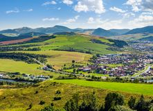 Stara lubovna town in slovakia. Lovely summer landscape in summer royalty free stock images