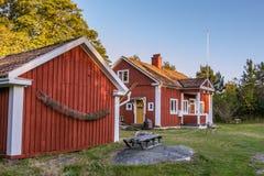 Stara lud szkoła na Harstena w Szwecja zdjęcie stock