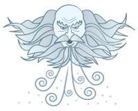 stara mężczyzna zima ilustracji