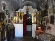 Stara mała kaplica święty Peter, Attica Grecja Obraz Royalty Free