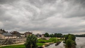 Stara mała wioska blisko Loire w Francja zdjęcie royalty free