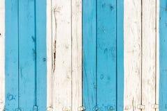 Stara malująca drewno ściana - tekstura lub tło Zdjęcia Stock