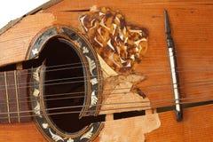 Stara mandolina łamająca Obraz Royalty Free