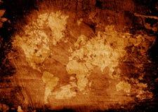 stara mapa świata ilustracji
