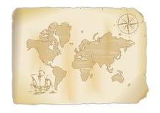 Stara mapa ilustracja wektor