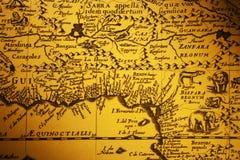 Stara mapa Afryka z obrazkami zwierzęta Fotografia Royalty Free