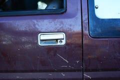 Stara metal rękojeść wybór w górę samochodu Zdjęcia Royalty Free