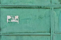 Stara metal tekstura pokrywająca z starą zieloną farbą zdjęcie stock