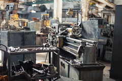 Stara metalu mielenia maszyna obraz stock