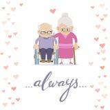stara miłość pary karcianej dzień projekta dreamstime zieleni kierowa ilustracja s stylizował valentine wektor Obraz Royalty Free