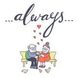 stara miłość pary karcianej dzień projekta dreamstime zieleni kierowa ilustracja s stylizował valentine wektor Fotografia Royalty Free