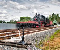 Stara militarna parowa lokomotywa Zdjęcie Stock