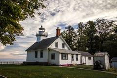Stara misja punktu latarnia morska W Michigan zdjęcia stock