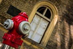 Stara mody dostawa wody dla pożarniczych pracowników Zdjęcie Stock