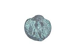 Stara moneta odizolowywająca na bielu Fotografia Stock