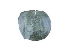 Stara moneta odizolowywająca na bielu Obrazy Stock