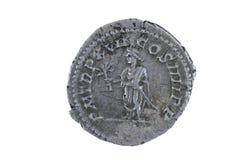 Stara moneta odizolowywająca na bielu Obraz Stock