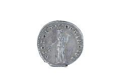 Stara moneta odizolowywająca na bielu Fotografia Royalty Free