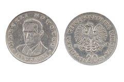 Stara moneta Polska dwadzieścia złoty Fotografia Royalty Free
