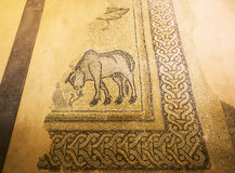 Stara mozaika w Hatay archeologii muzeum, Turcja zdjęcia stock