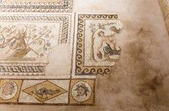Stara mozaika w Hatay archeologii muzeum, Turcja obrazy stock