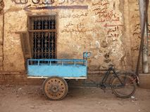 stara mur wózka rowerowej Obrazy Stock