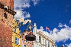 Stara nafciana lampa na urzędzie miasta Gdański obraz stock