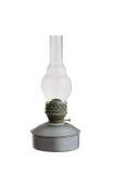 Stara nafty lampa odizolowywająca na białym tle Zdjęcia Stock