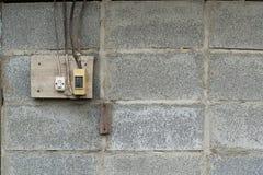 stara nasadka, elektryczny ujście na ścianie Obraz Royalty Free