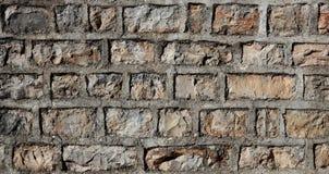 Stara nieociosana kamiennej ściany tekstura Fotografia Royalty Free