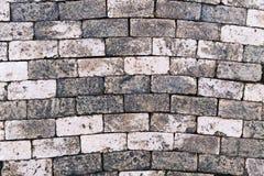 Stara nieociosana terakotowa gliniana cegła wzoru podłoga Zdjęcie Stock
