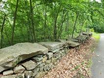 Stara Nowa Anglia Kamienna ściana obrazy stock