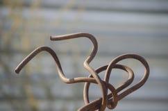 Stara ośniedziała armatura, figuratively wyginająca się w ciekawego figu Fotografia Royalty Free
