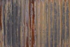 Stara ośniedziała cynk ściana Fotografia Stock