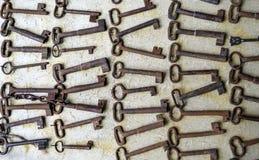 Stara ośniedziała kluczowa kolekcja Zdjęcie Stock