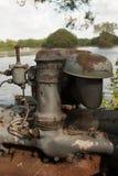 Stara ośniedziała maszyneria Fotografia Stock