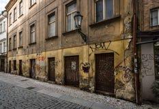 Stara obdarta ścienna ulica Obraz Stock