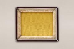 Stara obrazek rama na barwionym tle Fotografia Royalty Free