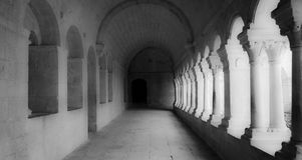 Stara opactwo galera Zdjęcia Stock
